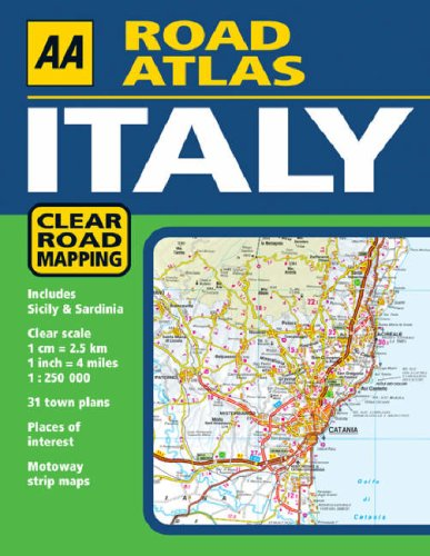 Road Map Of Northern Italy.Aa Road Atlas Italy Aa Atlases