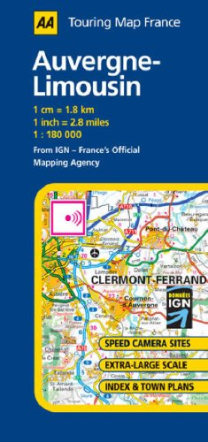 auvergne limousin aa road map france series