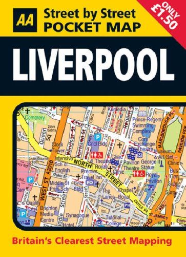 Pocket Map Liverpool By AA Publishing