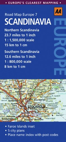 Road Map Scandinavia (AA Road Map Europe 7) By Created by AA Publishing