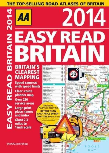 AA Easy Read Britain 2014 (Road Atlas) By AA Publishing