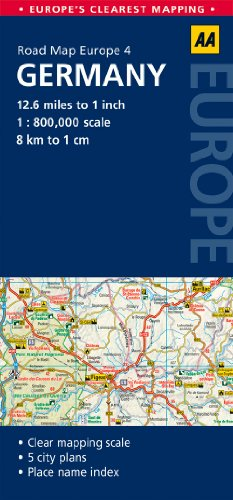 AA Road Map Germany (Road Map Europe 4) (AA Road Map Europe) by AA ...
