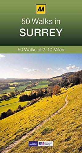 50 Walks in Surrey By AA Publishing