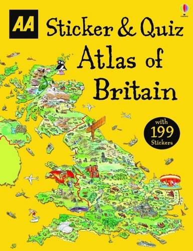 Sticker & Quiz Atlas of Britain By AA Publishing