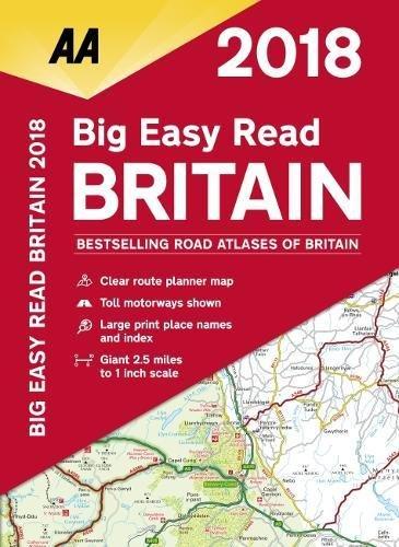 AA Big Easy Read Atlas Britain By AA Publishing