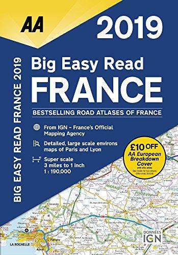 AA Big Easy Read Atlas France 2019 By AA Publishing