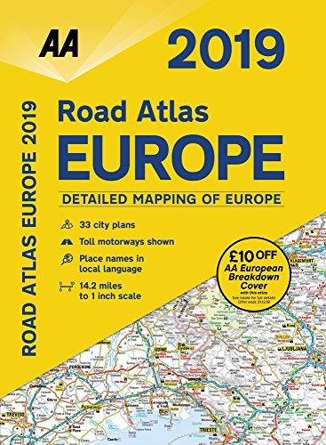 AA Road Atlas Europe 2019 By AA Publishing