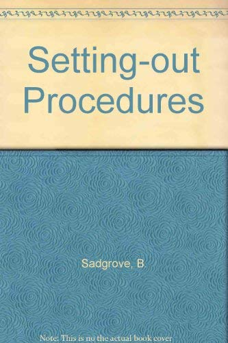 Setting-out Procedures By B. M. Sadgrove