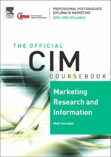 Marketing Research and Information: 2005/2006 by Matthew Housden