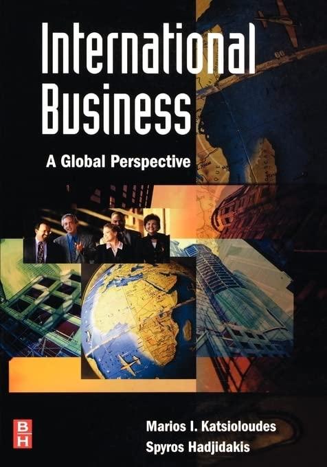 International Business By Marios I. Katsioloudes