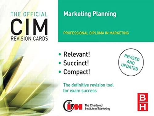 CIM Revision Cards Marketing Planning By Karen Beamish