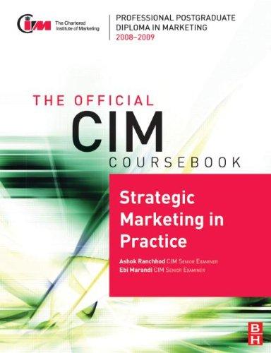 Strategic Marketing in Practice By Ashok Ranchhod