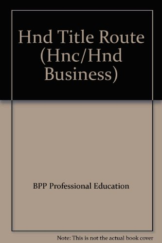 HND Title Route By BPP Professional Education