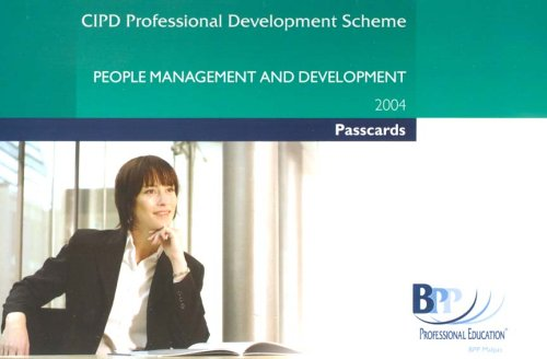 CIPD People Management and Development 2004: Passcards (Cipd Passcards) By BPP Professional Education