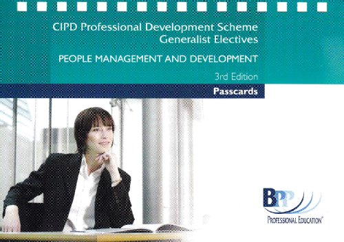 CIPD - People Management and Development 2006: Passcards (Cipd Passcards) by BPP Professional Education