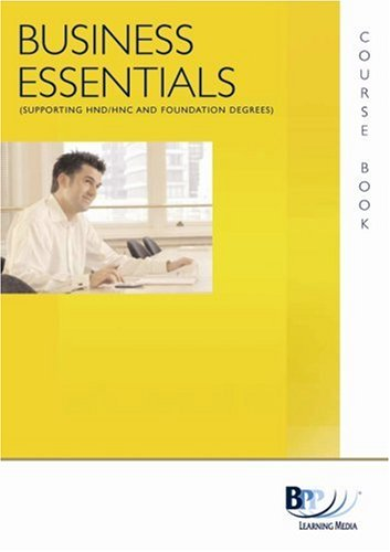 Business Essentials - Finance (HND Endorsed Title): Course Book By BPP Learning Media