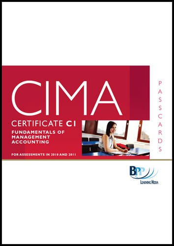 CIMA - C01 Fundamentals of Management Accounting: Passcards by BPP Learning Media