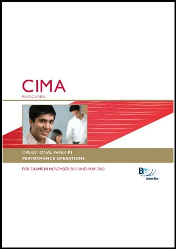 CIMA - Performance Operations: Passcards: Operational paper P1 by BPP Learning Media
