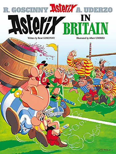 Asterix in Britain: Album 8 by Albert Uderzo Hardback Book The Cheap Fast Free