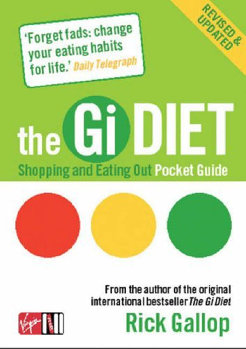 The Gi Diet Shopping and Eating Out Pocket Guide By Rick Gallop
