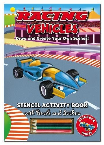 Activity Stencil Books - Racing Cars By Edited by North Parade Publishing