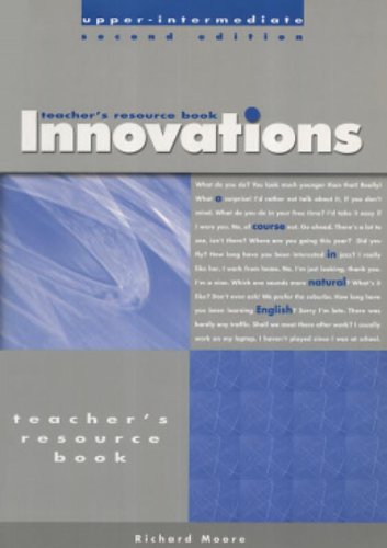 Teacher's Photocopiable Resource Book for Innovations Upper-Intermediate: A Course in Natural English By Hugh Dellar