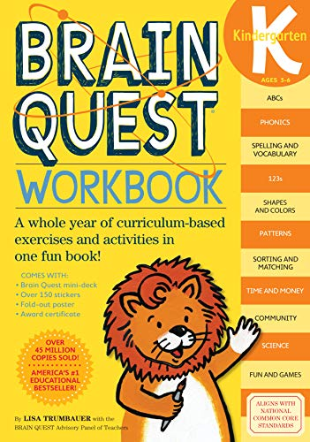 Brainquest Kindergarten Workbook Ages 5-6 By Lisa Trumbauer