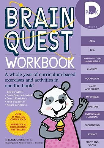 Brainquest Pre-K Workbook Ages 4-5 von Liane Onish