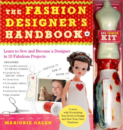 The Fashion Designers Handbook and Fashion Kit By Marjorie Galen