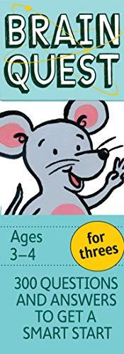 Brain Quest for Threes Q&A Cards By Chris Welles Feder