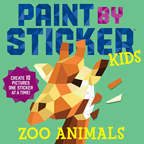 Paint By Sticker Kids: Zoo Animals By Workman