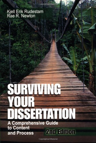 surviving your dissertation 2001 These updates and more make the third edition of surviving your dissertation a must have resource for graduate kjell erik rudestam, rae r newton snippet view - 2001.