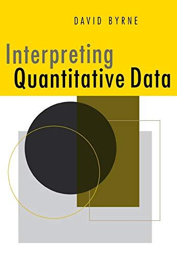 Interpreting Quantitative Data By David Byrne