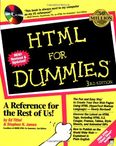 HTML 3 For Dummies By Ed Tittel