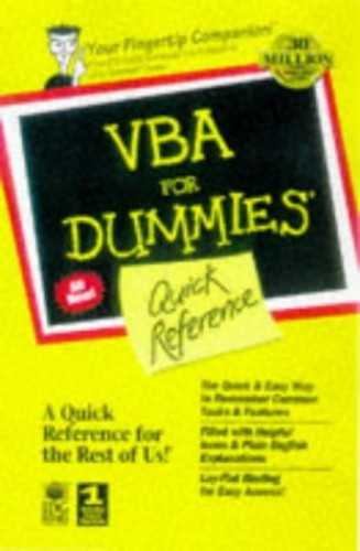 Visual Basic for Applications for Dummies Quick Reference By P Litwin