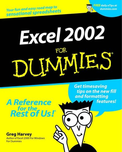 Excel 2002 For Dummies By Greg Harvey