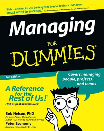 Managing For Dummies by Economy, Peter Paperback Book The Cheap Fast Free Post