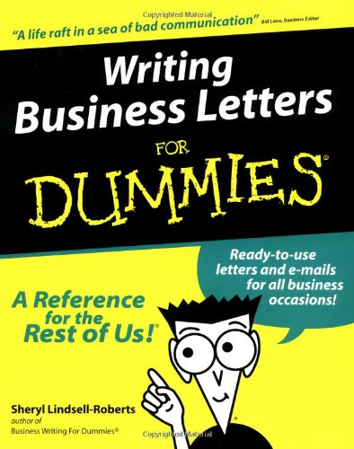Writing Business Letters For Dummies By Sheryl Lindsell-Roberts