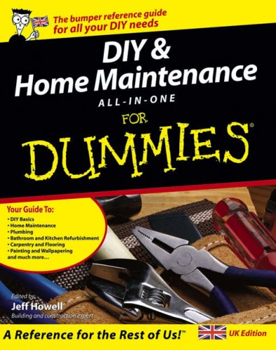 DIY and Home Maintenance for Dummies All-in-One, UK ... by Jeff Howell Paperback