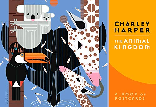 Charley Harper the Animal Kingdom Book of Postcards Aa633 By Pomegranate