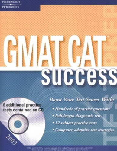 GMAT CAT Success By Created by Petersons Publishing