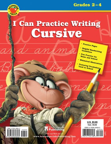 I Can Practice Writing Cursive, Grades 2 - 4 By Brighter Child