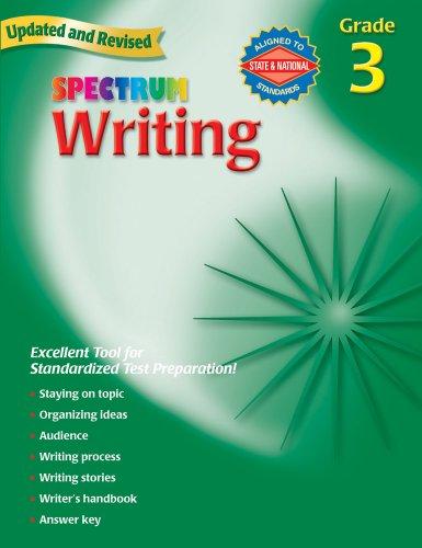 Writing, Grade 3 By Spectrum