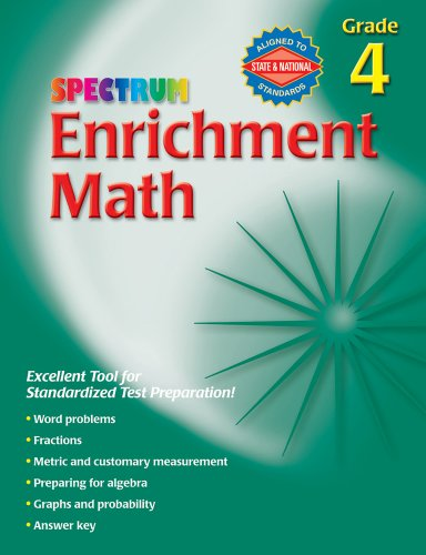 Enrichment Math, Grade 4 By Spectrum