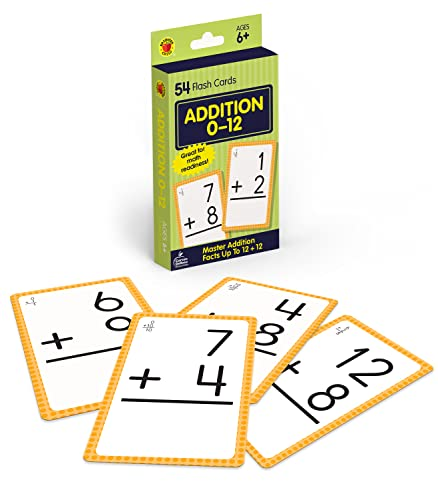 Addition 0 to 12 Flash Cards By Brighter Child