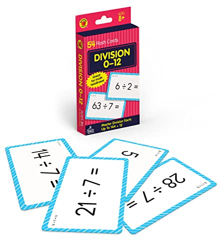 Division 0 to 12 Flash Cards By Brighter Child