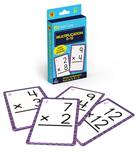Multiplication 0 to 12 Flash Cards By Brighter Child