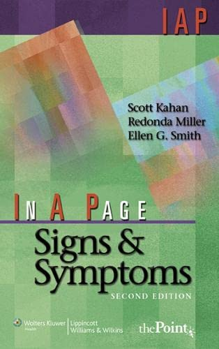 In A Page Signs & Symptoms By Scott Kahan