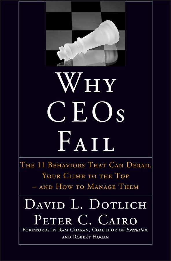 Why CEOs Fail By David L. Dotlich