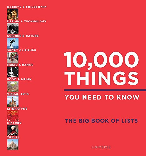 10,000 Things You Need to Know: The Big Book of Lists By Elspeth Beidas